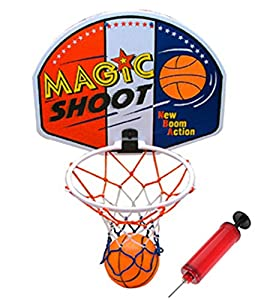 Liberty Imports Magic Shot Mini Basketball Hoop Set with Ball and Pump