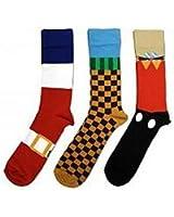 MERC Socken Sonic (3 Paar) offiziell lizenziert [Import allemand]