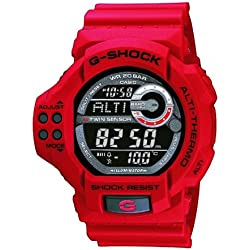Casio G Shock Twin Sensor Digital Red Resin Watch GDF100-4E