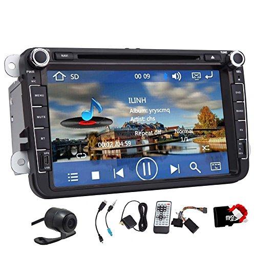 Auto-DVD-GPS-Stereo-8-Zoll-fr-VW-Kfer-CC-EOS-GTI-Jetta-Passat-Tiguan-mit-Navigation-Bluetooth-Radio-AUX-Eingang-USB-iPhone-iPod-Steuerung-Lenkrad-Steuerung-US-Karte-Rckfahrkamera-Eingang