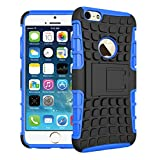 HIGAR Dual Armor Back Case Cover Cases Covers For Apple Iphone 6 4.7'inch - BLUE