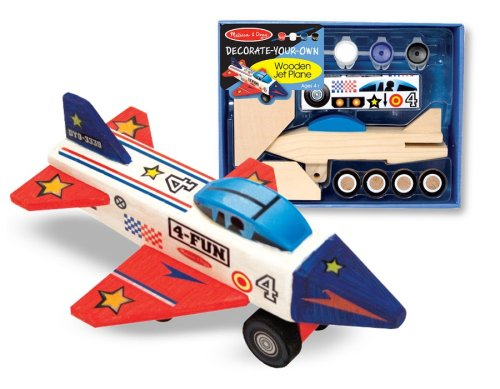 Melissa & Doug Wooden Jet Plane - DYO
