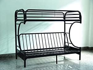 c shape twin and futon bunk bed in black ad