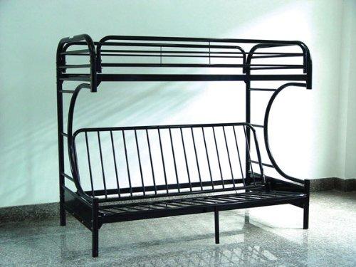 furniture bedroom furniture futon black metal futon