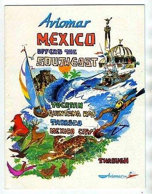 aviomar-mexico-tours-booklet-1974-yucatan-quintana-roo-tabasco-mexico-city