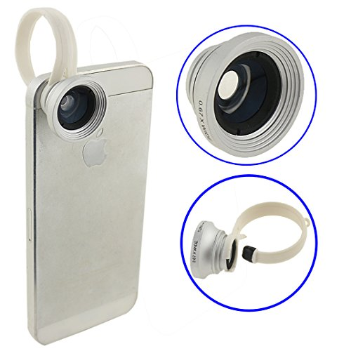Ancerson Universal Lens Camera Lens Kit Wide Angle Lens+0.67X Macro Lens For Smartphones Mobile Phones: Iphone 3 3G 3S 4 4S 5 5C 5S, Samsung Galaxy S4 I9500/ S5 I9600/Note 2 N7100/ Note 3 N9000/ Mega 6.3 I9200/ Mega 5.8 I9152, Htc One M7/ X/ Max/ M8, Lg N