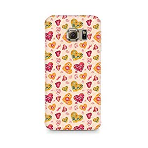 Rubix Customized Designer Hard Back Phone Case of Cute Pink Hearts for Samsung Galaxy S6 edge