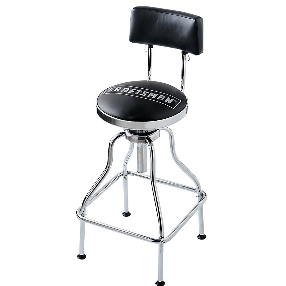 Swivel Shop Stool Craftsman Hydraulic Chair Padded