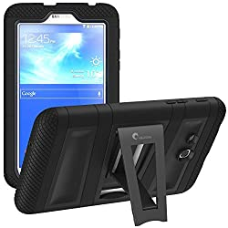 i-Blason Samsung Galaxy Tab 3 Lite 7.0 Case - Armorbox Dual Layer Hybrid Full-body Protective Cover with Kickstand and Impact Resistant Bumpers (Samsung Galaxy Tab 3 Lite 7.0, Black/Black)