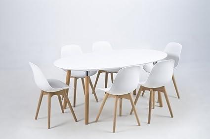 Mobilier Privé - Table À Manger Design Laqué Blanc, Berini