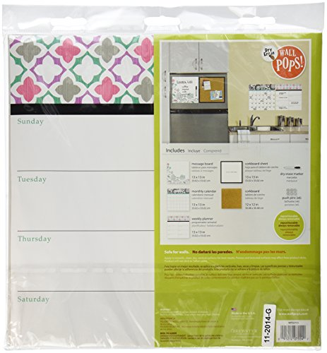 Wall Pops WPE0755 WPE0755 Floral Medley Organizer Kit Wall