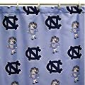 NCAA Printed North Carolina Shower Curtain