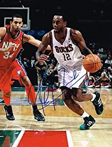 LUC RICHARD MBAH A MOUTE signed MILWAUKEE BUCKS 11X14 PHOTO with COA - Autographed... by Sports Memorabilia
