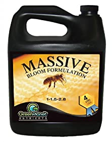 buy Green Planet Nutrients - Massive (4 Liters) - Bloom Stimulator (1-1.5-2.8) - An Unique Blend Of Vitamins, Minerals And Growth Stimulants - High Performance Flowering Additive With Organic Components Derived From Bee By-Products.