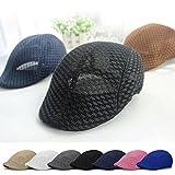 New Duck Mesh Summer Golf Driving Sun Flat Cap Beret Newsboy Cabbie Baseball Hat