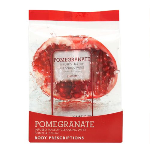 Pomegranate, Infused Makeup Cleansing Wipes, 33 Count