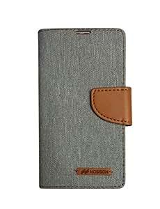 Nosson Fancy Flip Cover For HTC Desire 816 (Grey)