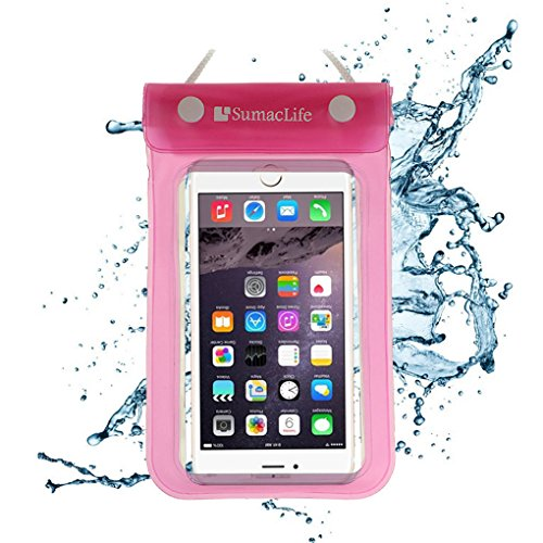 ECCRIS discount duty free For Apple iPhone 6S / 6 Plus Case, Sumaclife Universal Waterproof Cellphone Case bag for 5-5.5 inch Cellphones (Without Case on it) (Pink)