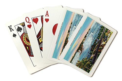 Niagara Falls, New York - Michigan Central Train View of Niagara Falls (Playing Card Deck - 52 Card Poker Size with Jokers) (Central Train New York Poster compare prices)