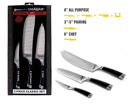 casaWare 3-piece Classic Knife Set - 6-inch Chef Knife, 3.5-inch Paring Knife and 8-inch All Purpose Knife