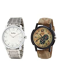 Relish Analog Round Casual Wear Watches For Men Combo - B01ANCD6U0