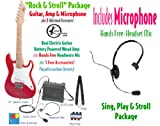 Kay Children's Guitar Package, Guitar, Amp, Microphone & Accessories, Fire Engine Red (No Electricity Required)