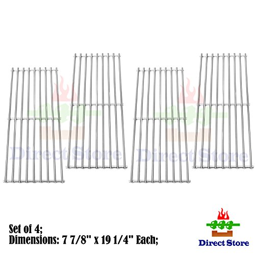 Direct store Parts Kit DS111 (4-pack) Solid Stainless Steel Cooking grids Replacement Turbo ,Perfect Flame, Perfect Flame Gas Grill (4) (Turbo Sts Grill Parts compare prices)