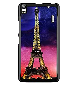 PrintDhaba Tower D-2854 Back Case Cover for LENOVO A7000 TURBO (Multi-Coloured)
