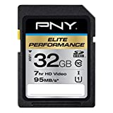 PNY Elite Performance 32 GB High Speed SDHC Class 10 UHS-I, U1 up to 95 MB/Sec Flash Card (P-SDH32U195-GE)