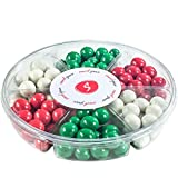 Snack Space Premium Milk Chocolate Covered Malt Balls Holiday Gift Basket, 6 Section