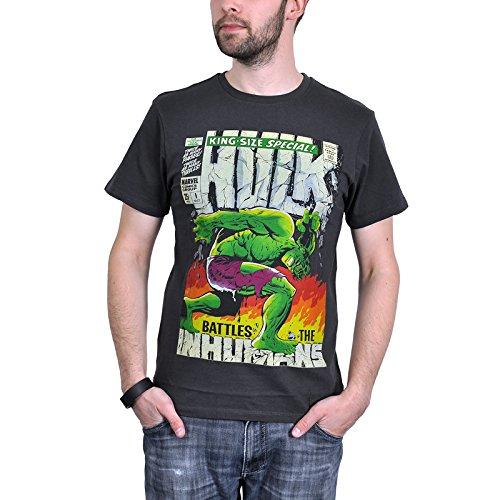Codi - Hulk T-Shirt Da Uomo King, Colore Nero, Taglia XL