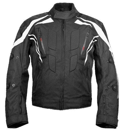 Roleff Racewear 3717 Kodra Blouson Regensburg RO 371, Noir/Blanc/Gris, XXXL
