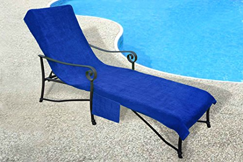 Pool side 1000 gram chaise cover pool lounge chair cover for Armchair side covers