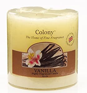 Wax Lyrical Pillar Candle Vanilla from Wax Lyrical