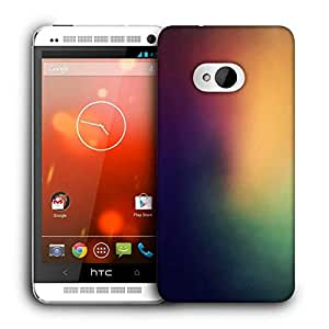 Snoogg Lite To Dark From Corner Printed Protective Phone Back Case Cover For HTC One M7