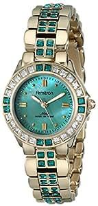 Armitron Women's 75/3689GMGP Swarovski Crystal-Accented Gold-Tone Watch