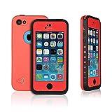 OFTEN Waterproof Shockproof Dirtproof Heavy Duty Hard Case Cover for Apple iPhone 5C (red)