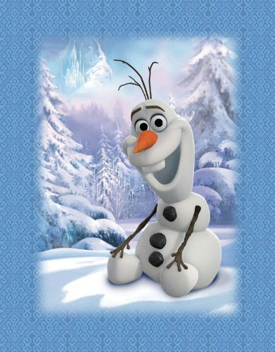 """Disney Frozen Featuring Olaf As The Main Print - Blue Baby Blanket 41"""" X 53"""" front-954998"""