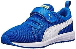 PUMA Carson Runner V Kids Classic Sneaker (Infant/Toddler/Little Kid/Big Kid) , Strong Blue/White, 6 M US Toddler