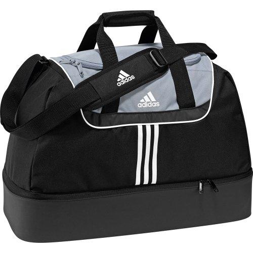 Adidas Sporttasche Tiro Team Bottom Compartment, black/silver/white, 54 x 27 x 28 cm, 40 liters, V42844,  euro/100 ml