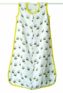 aden + anais Classic Muslin Sleeping Bag, Mod About Baby, Bee, Small