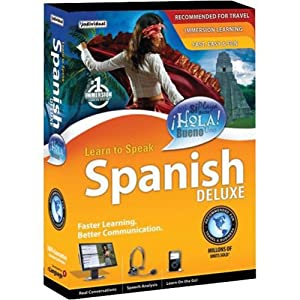 Learn to Speak Spanish Deluxe - ( v. 10.0 ) - complete package - 1 user - PC - DVD - Win