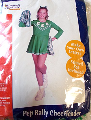 California Costumes Pep Rally Cheerleader Child Costume, Small/6-8, Green/White
