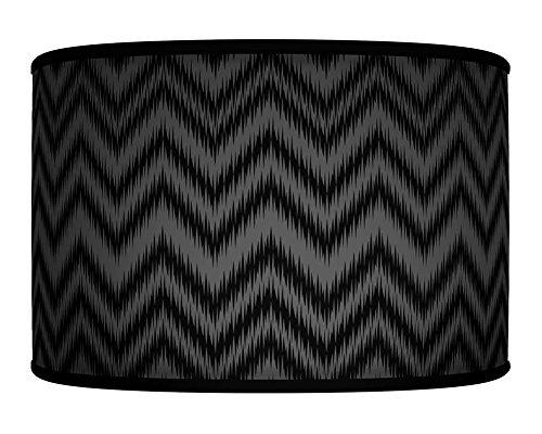40-cm-16-chevron-nero-vintage-fatto-a-mano-stampa-giclee-motivo-geometrico-stile-tessuto-paralume-pe