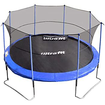 pas cher ultrafit jumper trampoline de jardin 430 cm avec filet de s curit 4 pieds. Black Bedroom Furniture Sets. Home Design Ideas
