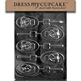 Dress My Cupcake DMCC443 Chocolate Candy Mold Oval Angel Lollipop Christmas