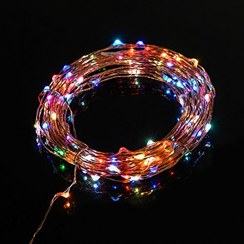Thin Led String Lights : TaoTronics? Led String Lights Starry String Light Copper Wire Lights in 7 rainbow colors (100 ...