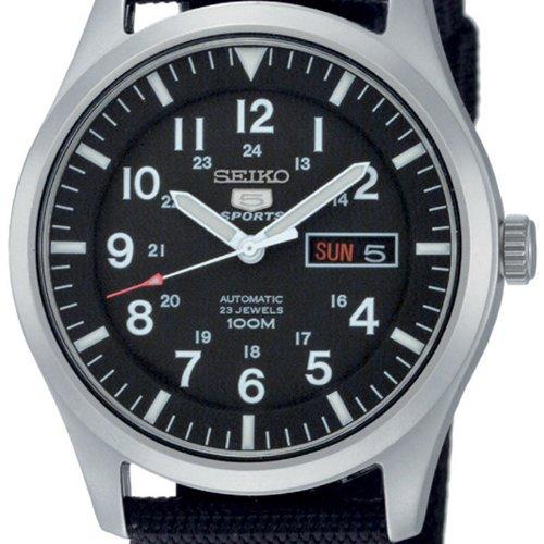 Seiko Herren-Armbanduhr Seiko 5 Sports Analog Automatik Textil SNZG15K1 2