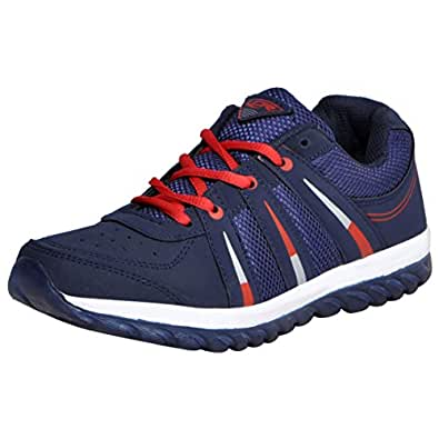 Lancer Men's Black Navy-Blue Red Synthetic Running Shoes (Indusnbl-Red-40) - (6 Uk)