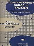 Contemporary Songs in English ~ Medium High Voice (Music Book)